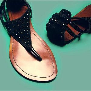 🆑 Gold Bead Embellished Thong Sandals